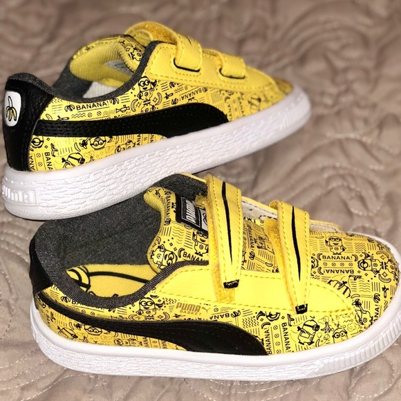 Puma Minions Basket V Kids Sneakers. M 5b69f0a03c9844ffa2e64c62 aed0e9a02
